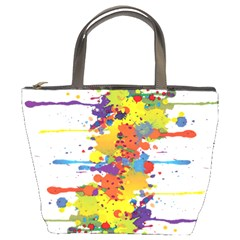 Crazy Multicolored Double Running Splashes Bucket Bags by EDDArt
