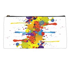 Crazy Multicolored Double Running Splashes Pencil Cases by EDDArt