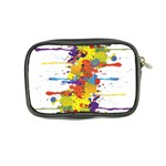 Crazy Multicolored Double Running Splashes Coin Purse Back