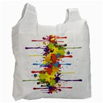 Crazy Multicolored Double Running Splashes Recycle Bag (One Side) Front