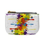 Crazy Multicolored Double Running Splashes Mini Coin Purses