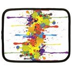 Crazy Multicolored Double Running Splashes Netbook Case (XL)