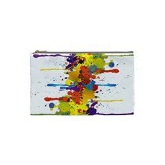 Crazy Multicolored Double Running Splashes Cosmetic Bag (small)  by EDDArt