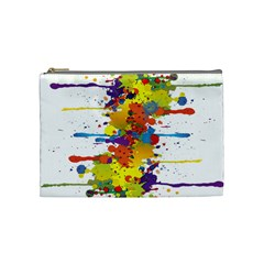 Crazy Multicolored Double Running Splashes Cosmetic Bag (medium)  by EDDArt