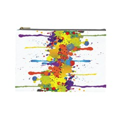 Crazy Multicolored Double Running Splashes Cosmetic Bag (large)