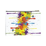 Crazy Multicolored Double Running Splashes Cosmetic Bag (Large)  Back