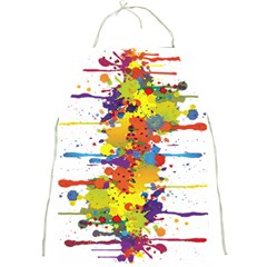 Crazy Multicolored Double Running Splashes Full Print Aprons