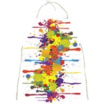 Crazy Multicolored Double Running Splashes Full Print Aprons Front