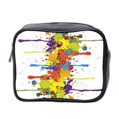 Crazy Multicolored Double Running Splashes Mini Toiletries Bag 2 Side