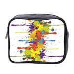 Crazy Multicolored Double Running Splashes Mini Toiletries Bag 2-Side