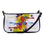 Crazy Multicolored Double Running Splashes Shoulder Clutch Bags Front