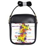 Crazy Multicolored Double Running Splashes Girls Sling Bags