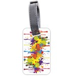 Crazy Multicolored Double Running Splashes Luggage Tags (Two Sides) Back