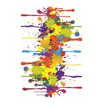 Crazy Multicolored Double Running Splashes Shower Curtain 48  x 72  (Small)  42.18 x64.8 Curtain