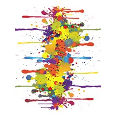 Crazy Multicolored Double Running Splashes Shower Curtain 60  X 72  (medium)  by EDDArt