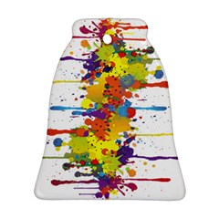 Crazy Multicolored Double Running Splashes Bell Ornament (2 Sides) by EDDArt