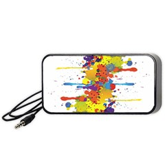 Crazy Multicolored Double Running Splashes Portable Speaker (black)  by EDDArt