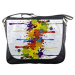 Crazy Multicolored Double Running Splashes Messenger Bags Front