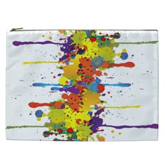 Crazy Multicolored Double Running Splashes Cosmetic Bag (xxl)