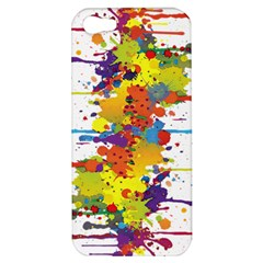Crazy Multicolored Double Running Splashes Apple Iphone 5 Hardshell Case