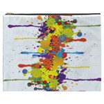 Crazy Multicolored Double Running Splashes Cosmetic Bag (XXXL)