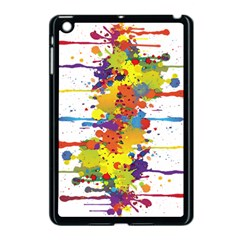Crazy Multicolored Double Running Splashes Apple Ipad Mini Case (black)