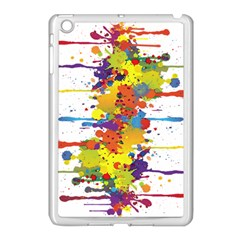 Crazy Multicolored Double Running Splashes Apple Ipad Mini Case (white) by EDDArt