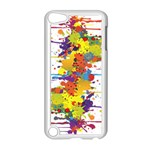 Crazy Multicolored Double Running Splashes Apple iPod Touch 5 Case (White)