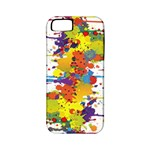 Crazy Multicolored Double Running Splashes Apple iPhone 5 Classic Hardshell Case (PC+Silicone)