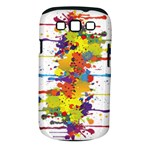 Crazy Multicolored Double Running Splashes Samsung Galaxy S III Classic Hardshell Case (PC+Silicone)