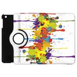 Crazy Multicolored Double Running Splashes Apple iPad Mini Flip 360 Case