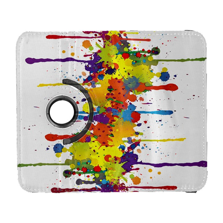 Crazy Multicolored Double Running Splashes Samsung Galaxy S  III Flip 360 Case