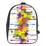 Crazy Multicolored Double Running Splashes School Bags (XL)  Front