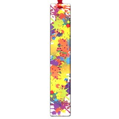 Crazy Multicolored Double Running Splashes Large Book Marks by EDDArt