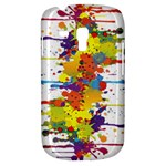 Crazy Multicolored Double Running Splashes Samsung Galaxy S3 MINI I8190 Hardshell Case