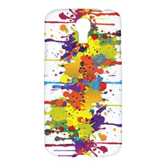 Crazy Multicolored Double Running Splashes Samsung Galaxy S4 I9500/i9505 Hardshell Case by EDDArt
