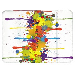 Crazy Multicolored Double Running Splashes Samsung Galaxy Tab 7  P1000 Flip Case by EDDArt