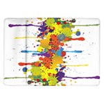 Crazy Multicolored Double Running Splashes Samsung Galaxy Tab 10.1  P7500 Flip Case
