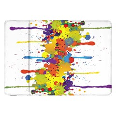 Crazy Multicolored Double Running Splashes Samsung Galaxy Tab 8 9  P7300 Flip Case