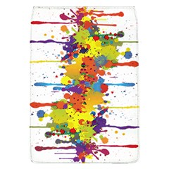 Crazy Multicolored Double Running Splashes Flap Covers (l)  by EDDArt