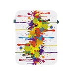 Crazy Multicolored Double Running Splashes Apple iPad 2/3/4 Protective Soft Cases Front