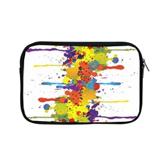 Crazy Multicolored Double Running Splashes Apple Ipad Mini Zipper Cases by EDDArt