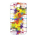 Crazy Multicolored Double Running Splashes Samsung Galaxy S4 I9500/I9505  Hardshell Back Case