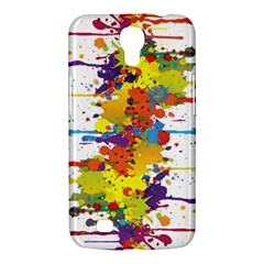 Crazy Multicolored Double Running Splashes Samsung Galaxy Mega 6 3  I9200 Hardshell Case