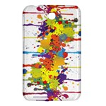 Crazy Multicolored Double Running Splashes Samsung Galaxy Tab 3 (7 ) P3200 Hardshell Case
