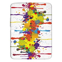 Crazy Multicolored Double Running Splashes Samsung Galaxy Tab 3 (10 1 ) P5200 Hardshell Case