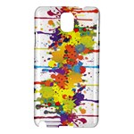 Crazy Multicolored Double Running Splashes Samsung Galaxy Note 3 N9005 Hardshell Case
