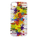 Crazy Multicolored Double Running Splashes Apple iPhone 5S/ SE Hardshell Case