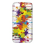 Crazy Multicolored Double Running Splashes Apple iPhone 5C Hardshell Case