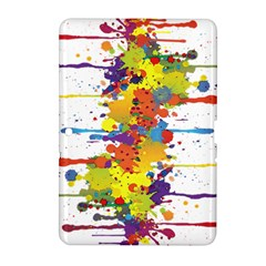 Crazy Multicolored Double Running Splashes Samsung Galaxy Tab 2 (10 1 ) P5100 Hardshell Case  by EDDArt